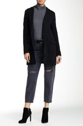Luma Long Textured Jacket Black