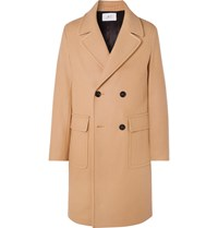 Mr P. Oversized Double Breasted Virgin Wool Coat Brown