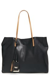 Poverty Flats By Rian 'Colorful' Faux Leather Shopper Black