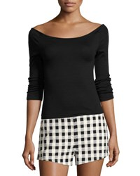 Rag And Bone Oasis Off The Shoulder Top Black