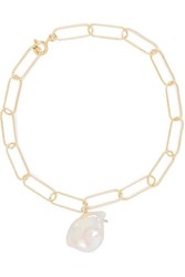 Alighieri Gold Plated Pearl Anklet One Size