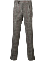 Gabriele Pasini Check Pattern Tailored Trousers Neutrals