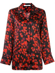 Givenchy Abstract Floral Print Shirt Black