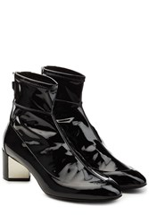 Pierre Hardy Patent Leather Ankle Boots Black