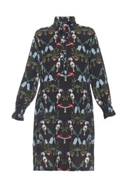 Mother Of Pearl Lulu Lobster Print Dress Navy Multi