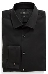 Boss Men's Trim Fit Solid French Cuff Tuxedo Shirt