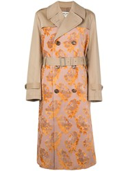 Junya Watanabe Floral Pattern Double Breasted Coat 60