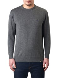 Pretty Green Mandeville Crew Neck Jumper Charcoal