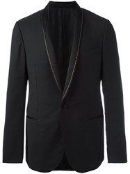 Lanvin Stitched Shawl Lapel Jacket Black