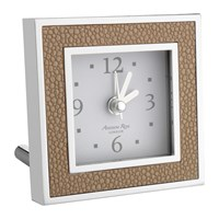 Addison Ross Square Alarm Clock Shagreen Sand