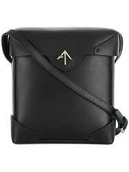 Manu Atelier Boxy Crossbody Bag Calf Leather Black
