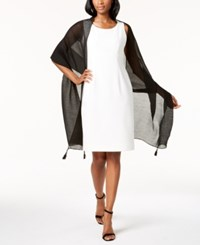 Inc International Concepts Tassel Pleated Wrap Created For Macy's Black
