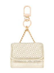 Tory Burch Mini Key Fob Metallic