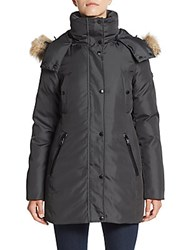 Marc New York Fur Trimmed Parka Steel
