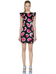 Love Moschino Watermelon Printed Cotton Satin Dress
