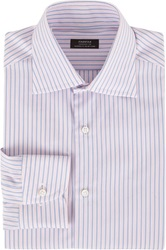 Fairfax Variegated Stripe Fitted Shirt Blue Size 15.5