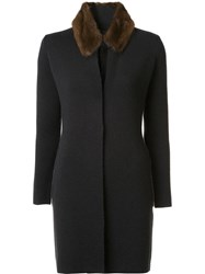 Fabiana Filippi Fur Collar Coat Grey