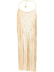Rosantica Long Fringed Necklace Metallic