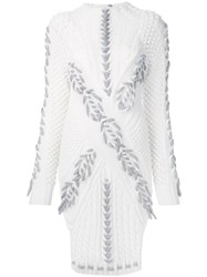 Prabal Gurung Braided Knit Jumper White