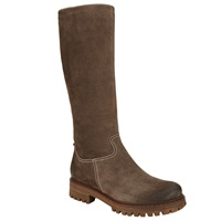 John Lewis Talia Long Suede Knee High Boots Brown