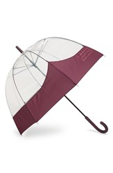 Hunter 'Moustache' Bubble Umbrella Purple Bright Plum