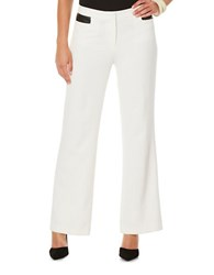 Rafaella Petite Solid Flared Pants White