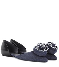 Roger Vivier Flat Chips Embellished Ballerina Shoes Blue
