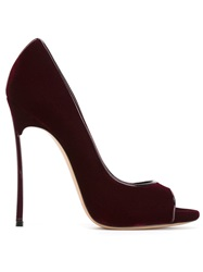 Casadei Peep Toe Pumps Red