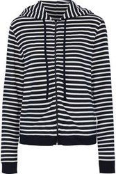 Majestic Filatures Striped French Terry Hoodie Midnight Blue