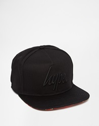 Hype Snapback With Contrast Visor Black