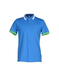 Sun 68 Topwear Polo Shirts Men Azure