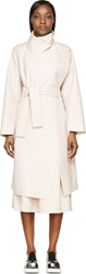 Avelon Blush Raw Edge Wool Coat