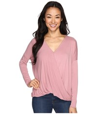 Culture Phit Mahli Crossover Long Sleeve Top Rose Women's Clothing Pink