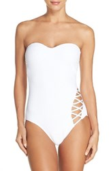 Kenneth Cole Women's Shanghi One Piece Swimsuit White