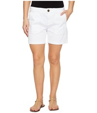Jag Jeans Petite Somerset Relaxed Fit Shorts In Bay Twill White Women's Shorts