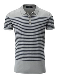 Henri Lloyd Men's Sterling Stripe Knitted Polo Flint