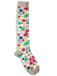 Fe Fe Fefe Bubble Patterned Socks Grey