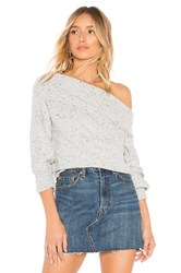 Michael Stars Off The Shoulder Puff Sleeve Pullover Gray