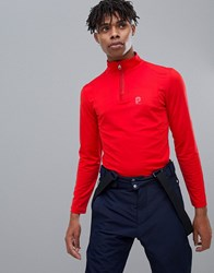 Protest Willowy 1 4 Zip Top In Red