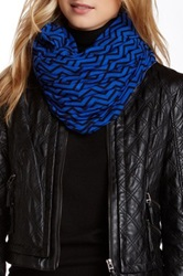 Loveappella Chevron Print Infinity Scarf Blue