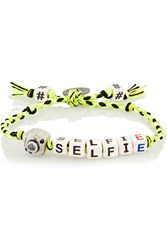 Finds Selfie Ceramic And Gunmetal Plated Bracelet Green