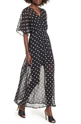 Love Fire Chiffon Maxi Dress Polka Dot