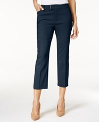 Charter Club Extended Tab Capri Pants Only At Macy's Intrepid Blue