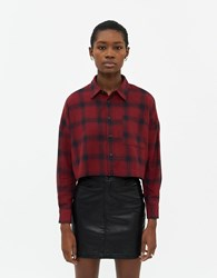 Which We Want Jenny Plaid Shirt In Red Size Small 100 Cotton