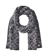 Dale Of Norway Rose Scarf C Navy Light Charcoal Scarves Black