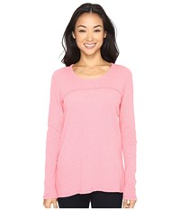 Mod O Doc Vintage Slub Thermal Back Vent Long Sleeve Tee Guava Women's T Shirt Pink