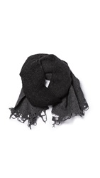 Our Legacy Shaggy Scarf Charcoal