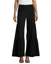 Xcvi Flare Leg Tiered Pants Black