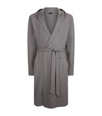 Hanro French Terry Hooded Robe Male Grey