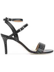 Marc Ellis Studded Buckled Sandals Nappa Leather Leather Black